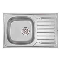 Кухонная мойка Qtap 7850 Micro Decor 0,8 мм (QT7850MICDEC08), фото 1