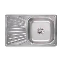 Кухонная мойка Lidz 7848 Satin 0,8 мм (LIDZ7848SAT), фото 1