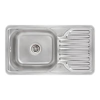 Кухонная мойка Lidz 7642 Micro Decor 0,8 мм (LIDZ764208MICDEC), фото 1