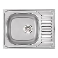 Кухонная мойка Qtap 6550 Satin 0,8 мм (QT6550SAT08), фото 1