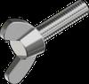 Винт М4х10 барашковый, сталь ЦБ DIN 316
