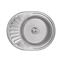 Кухонная мойка Lidz 6044 Satin 0,6 мм (LIDZ604406SAT), фото 1