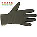 Перчатки зимние на флисе SoftShell (Olive), фото 2