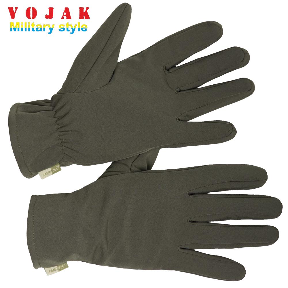 Перчатки зимние на флисе SoftShell (Olive)