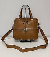 """Женская кожаная коричневая сумка """"Polina & Eiterou"""""""