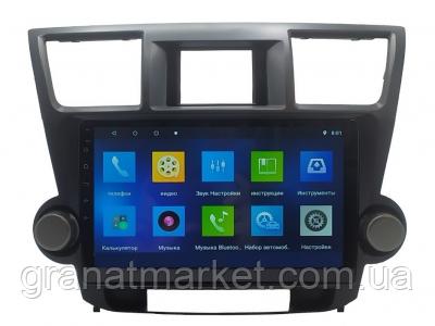 Автомагнитола штатная для Toyota Highlander 2009-2014 магнитола Экран 10 Android 10.1