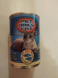 Корм консерва Pet daily cat Пет Дейлi для котiв зі смаком риби 415 г