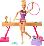 Лялька Барбі Гімнастка з аксесуарами Barbie Gymnastics Doll and Playset (GJM72), фото 4
