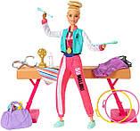 Лялька Барбі Гімнастка з аксесуарами Barbie Gymnastics Doll and Playset (GJM72), фото 6