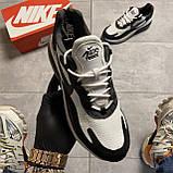 Мужские кроссовки Nike Air Max 270 React Grey White, мужские кроссовки найк аир макс 270 реакт, фото 2