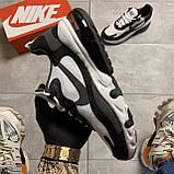 Мужские кроссовки Nike Air Max 270 React Grey White, мужские кроссовки найк аир макс 270 реакт, фото 3
