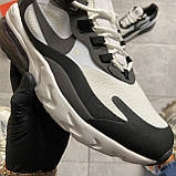 Мужские кроссовки Nike Air Max 270 React Grey White, мужские кроссовки найк аир макс 270 реакт, фото 4