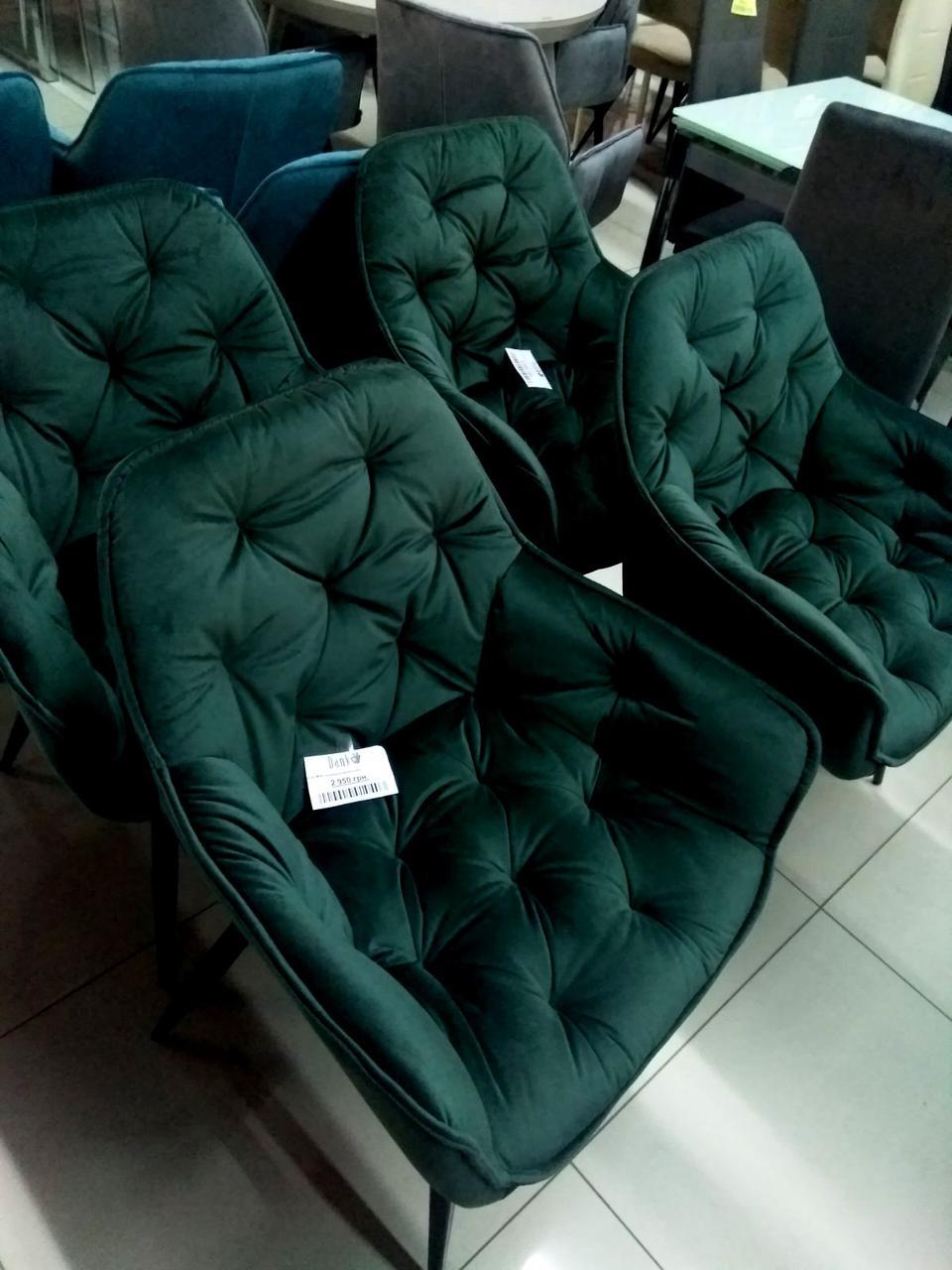 Обідній крісло M-65 смарагдовий вельвет від Vetro Mebel