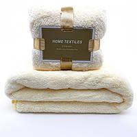 Комплект полотенец однотонный Home Textiles (микрофибра) молочный