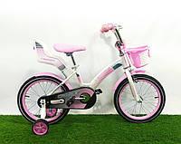 """Детский велосипед для девочек Crosser Kids Bike 16"""" Бело-розовый"""