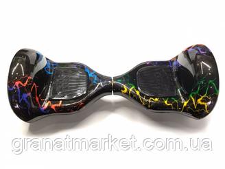 Гироборд Elite Lux 10 колеса Smart Balance разноцветная молния