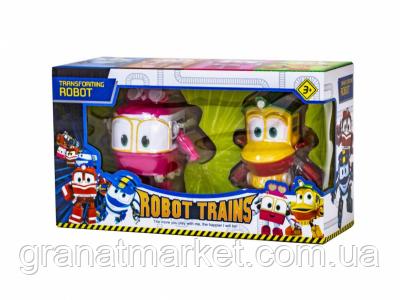 Детский игровой набор из 2 трансформеров Robot Trains BL1898, Салли и Утенок