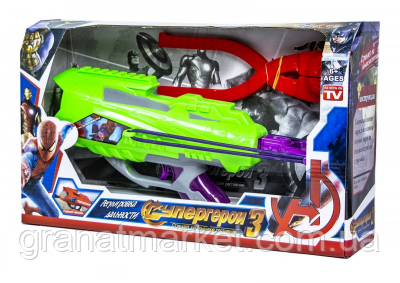 Детский игрушечный бластер-снежколеп 2 в 1 999-01, Супергерои