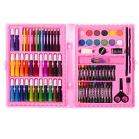 Детский набор для творчества и рисования в чемоданчике Art Set 86 предметов (Розовый)