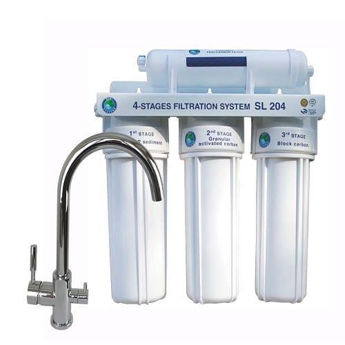Система 4-х степенного очищения Bio+ systems SL204-NEW + кран