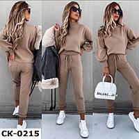 Женский теплый стильный ангоровый костюм 3 цвета С-М +большие размеры, фото 1