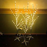Светодиодная гирлянда дерево Лампочки новогодняя в виде дерева лед led теплая белая новогоднее декорация