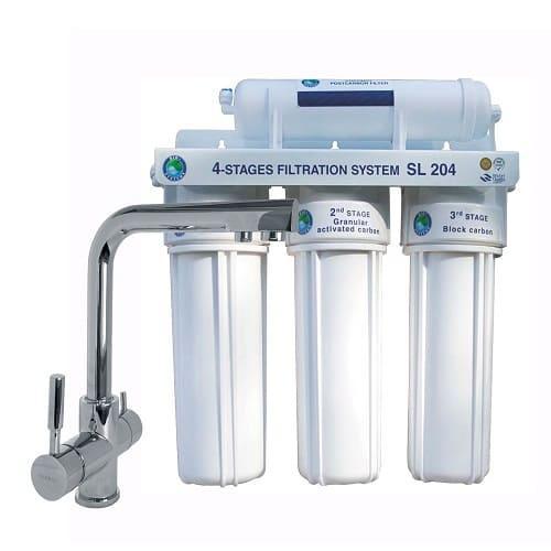 Система 4-х степенного очищения Bio+ systems SL204-NEW + кран GLLR-0888