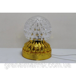 Диско шар лампа BT RD-5002 светодиодный на золотой подставке