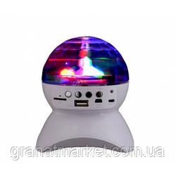 Диско-шар на аккумуляторе Charging crystal magic ball Bluetooth RD-5035 White