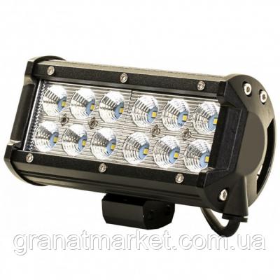 Дополнительная светодиодная фара Spot Led (12 Led) 5D 36 Вт