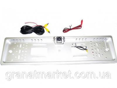 Камера заднего вида Armoth рамка номерного знака с 4LED подсветкой Silver