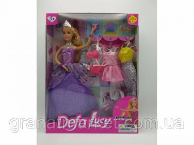 Кукла Defa Lucy Принцесса с короной и 3 сменных наряда 8269