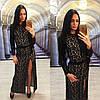 Кружевное платье с разрезом, фото 2
