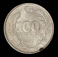 Монета Турции 100 лир 1987 г., фото 1