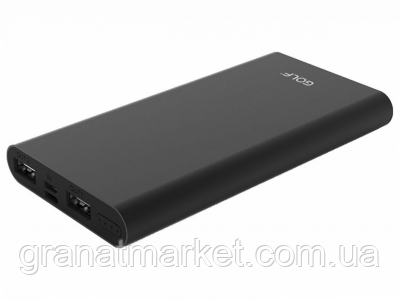 Портативная батарея Golf Power Bank 10000 mAh Edge 10 Li-pol Black