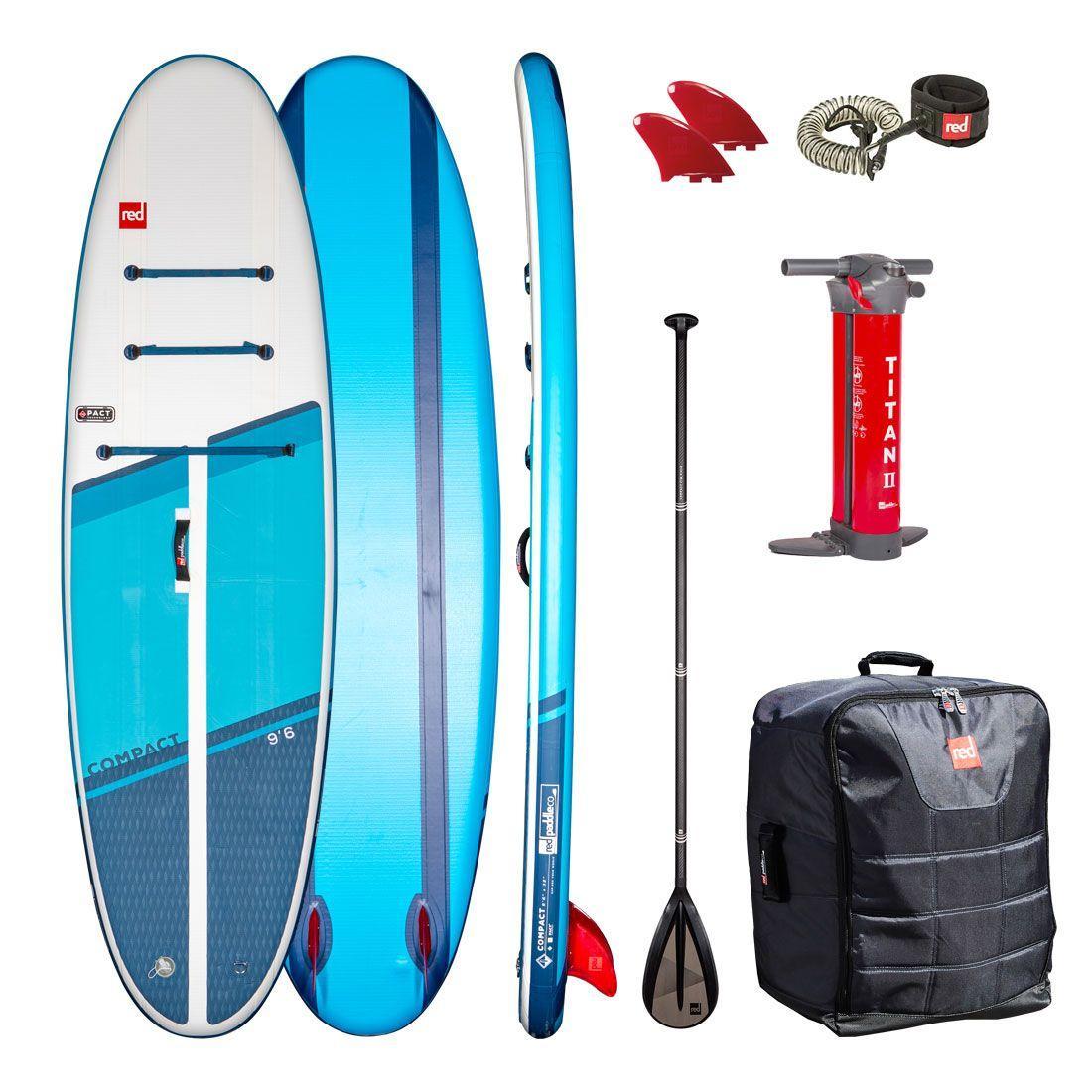 "Сапборд Red Paddle Co Compact 9'6"" 2021 - надувна дошка для САП серфінгу, sup board"