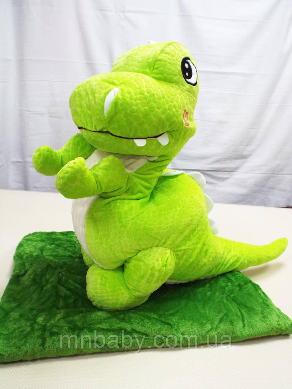Игрушка-плед Дино зеленый