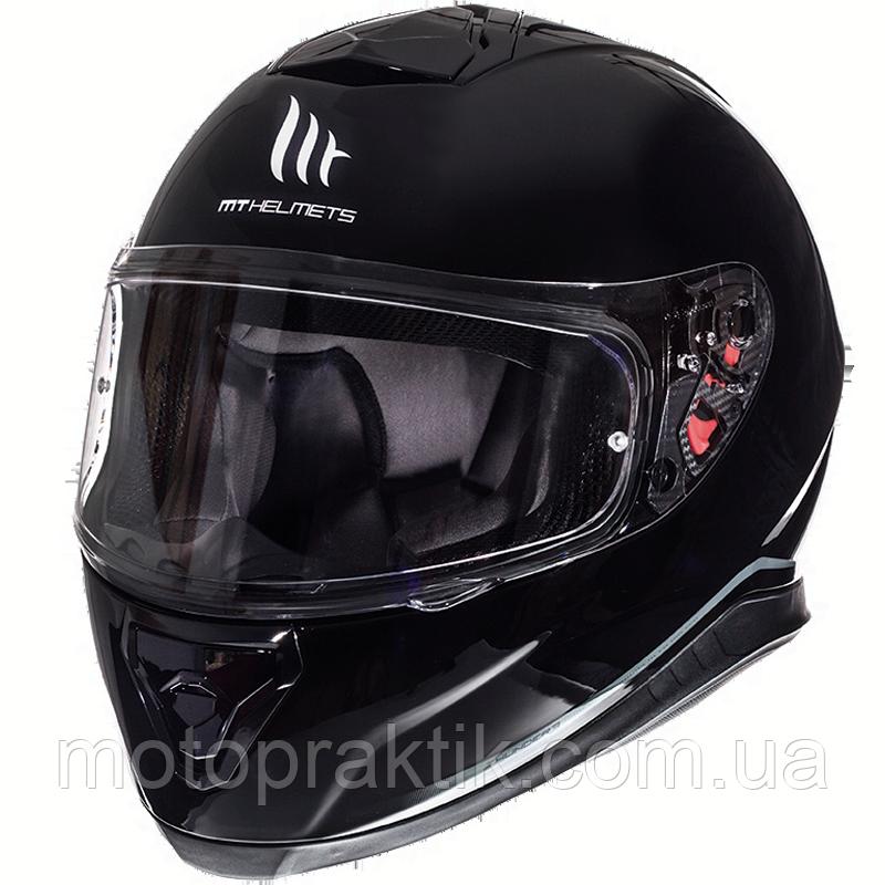 MT Thunder 3 SV Solid Gloss Black, XS Мотошолом інтеграл з окулярами