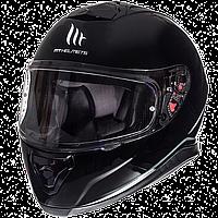 MT Thunder 3 SV Solid Gloss Black, XS Мотошолом інтеграл з окулярами, фото 1