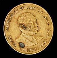 Монета Кении 10 центов 1980 г., фото 1