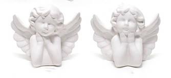 Фигурка (статуэтка) Ангелочек фарфоровая в ассортименте 2 вида 11x7x9см