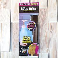 Дозатор для жидкого мыла с подсветкой Soap Brite 400 мл диспенсер +БАТАРЕЙКИ (Оригинальные фото)