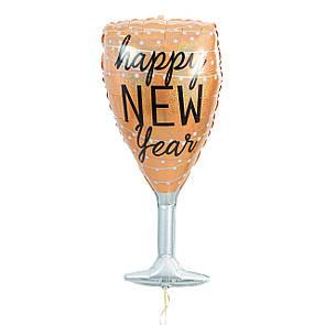 Новогодняя коробка сюрприз, бутылка и бокал шампанского, фото 2