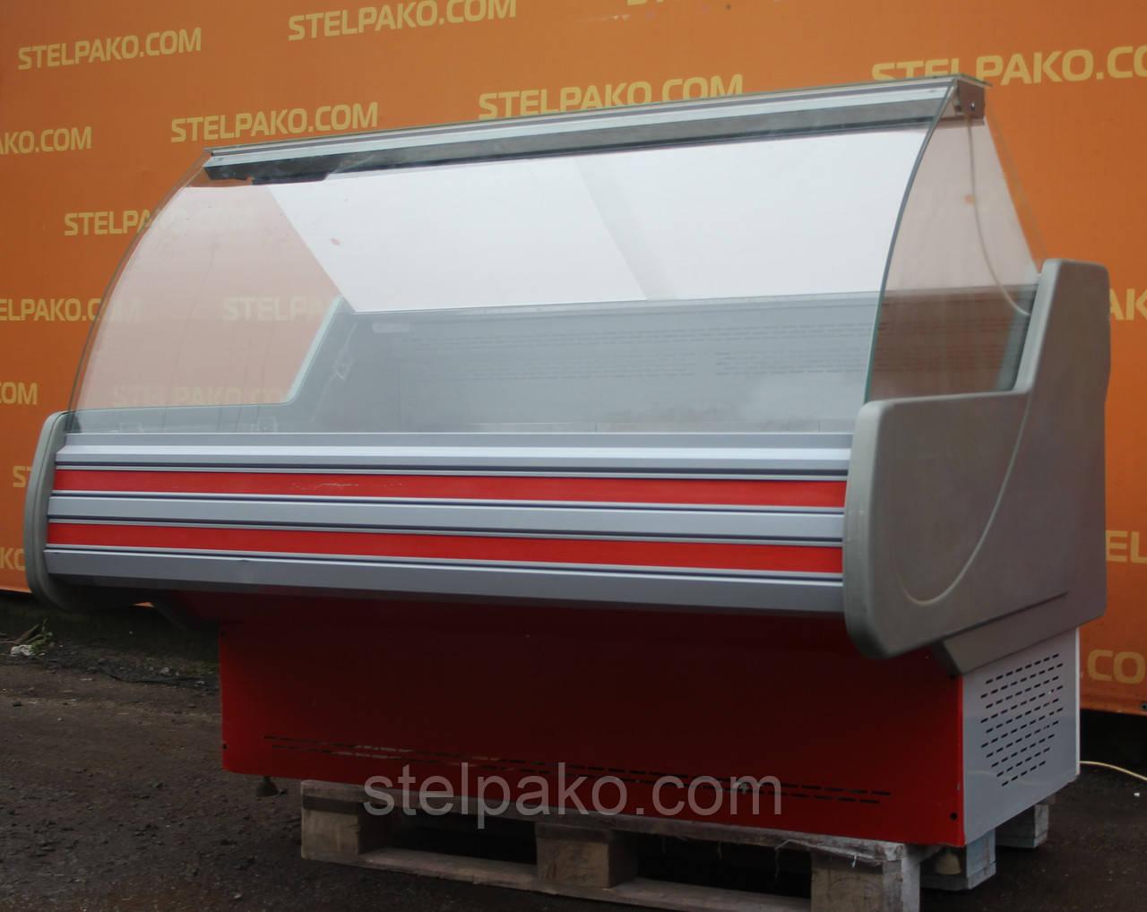 Холодильная среднетемпературная витрина «Технохолод Невада» 1.6 м., (Украина), широкая выкладка 90 см., Б/у