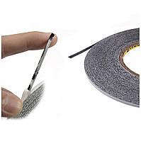Двосторонній скотч чорний товщина 0.15 мм, ширина 1мм, довжина 50м