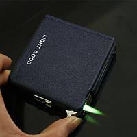 Портсигар металлический с зажигалкой и автоподачей на 20 сигарет SKU0000208