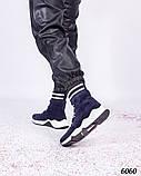 Зимние спортивные ботинки замшевые синие, фото 5