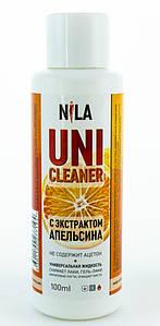 """Жидкость для снятия гель лака """"Апельсин"""" Nila Uni-Cleaner 100 мл."""