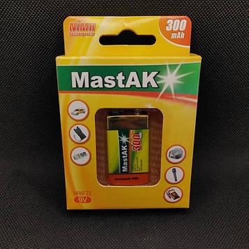 """Аккумулятор MastAK """"Крона"""" 9v ( 8,4v 300mAh )"""