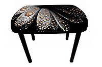 Стол стеклянный на деревянном каркасе., фото 1